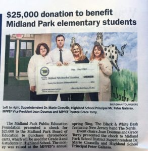 $25,000 Donation to elementary students