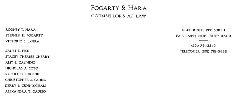 Fogarty & Hara Counsellors at Law
